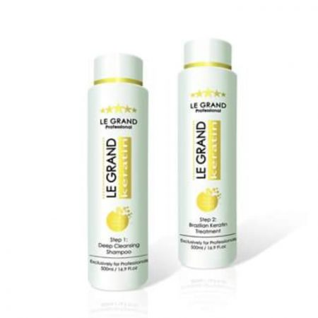 Le Grand Brazilian Kit (Clarifying Shampoo and Keratin Treatment)