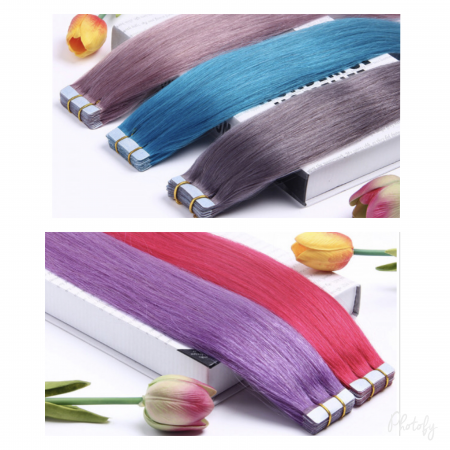 Color streaks Tape in Extensions